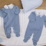roupas de tricô para bebê